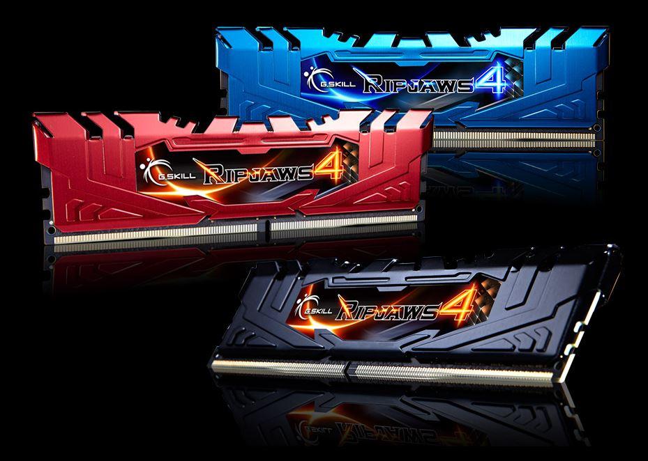 G.Skill Ripjaws 4 DDR4 3000 MHz 4X4 GB - Moduli disponibili in tre colori - Clicca per ingrandire