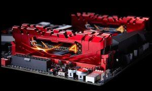G.Skill Ripjaws 4 DDR4 3000 MHz 4X4 GB - Su scheda madre - Clicca per ingrandire