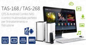 QNAP QTS-Android Combo NAS TAS-168 e TAS-268