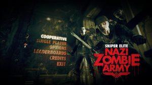 Sniper Elite Nazi Zombie Army menu
