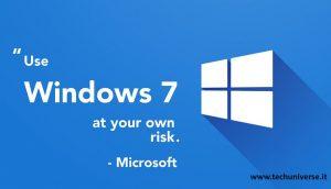 Avviso di Windows7