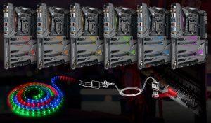 Asus Z170 ROG Maximus VIII Formula - Aura striscia a LED