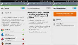 Anti-Phishing e Filtro SMS e chiamate