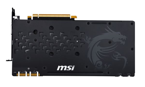 MSI GeForce GTX 1080 Gaming X 8G - Il backplate