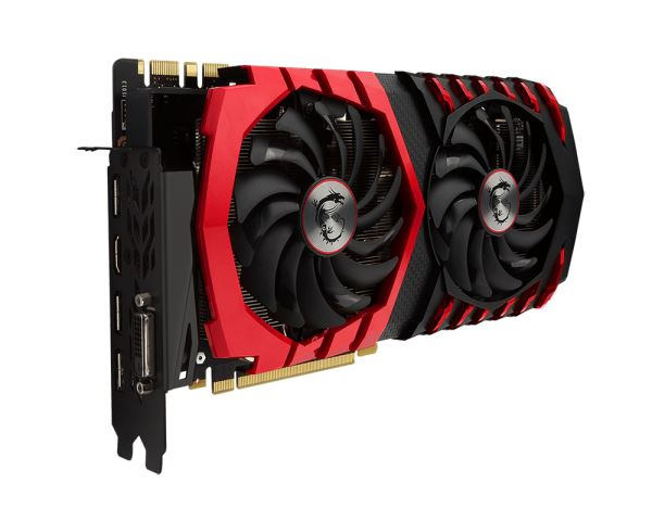 Veduta laterale GeForce GTX 1080