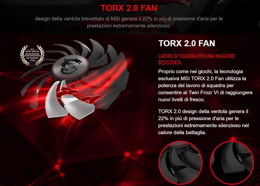 Sistema delle ventole TORX