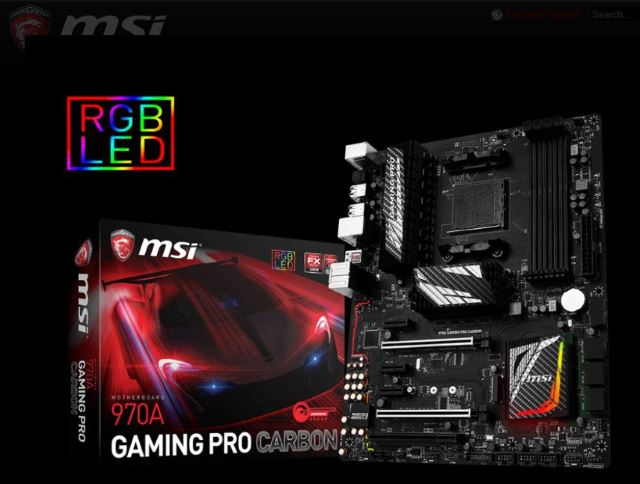 MSI 970A Gaming Pro Carbon: Nuova scheda madre AM3+