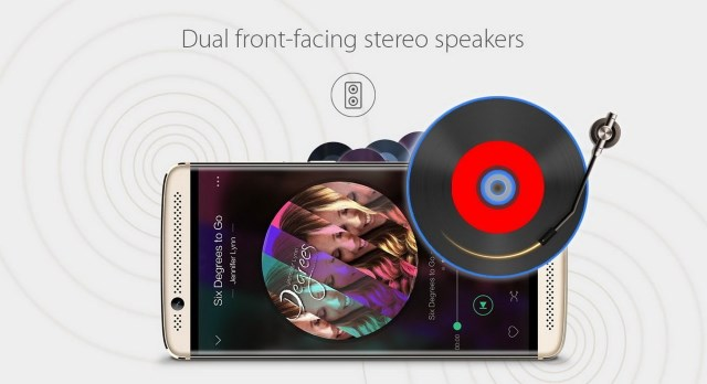 Dual front-facing stereo speakers