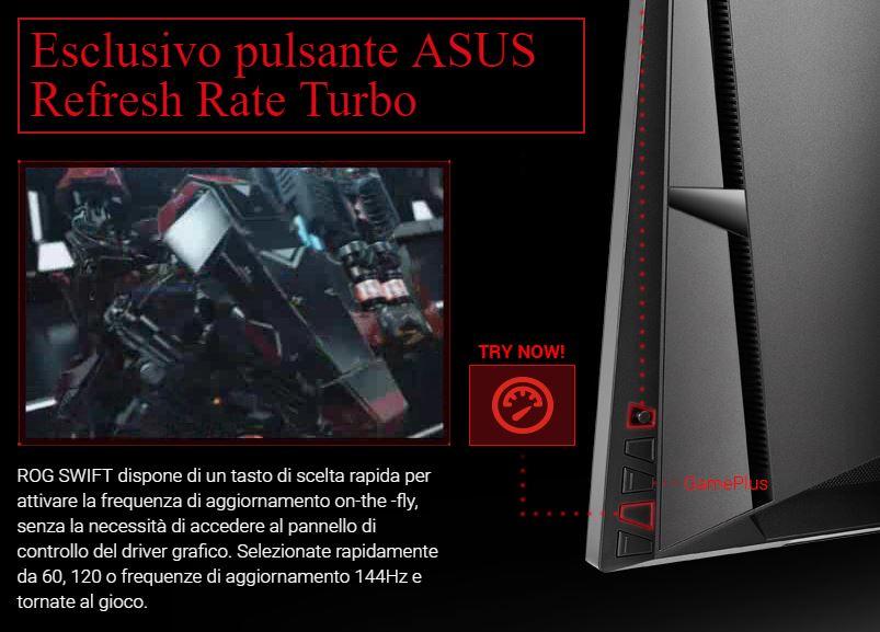 Pulsante refresh monitor ASUS