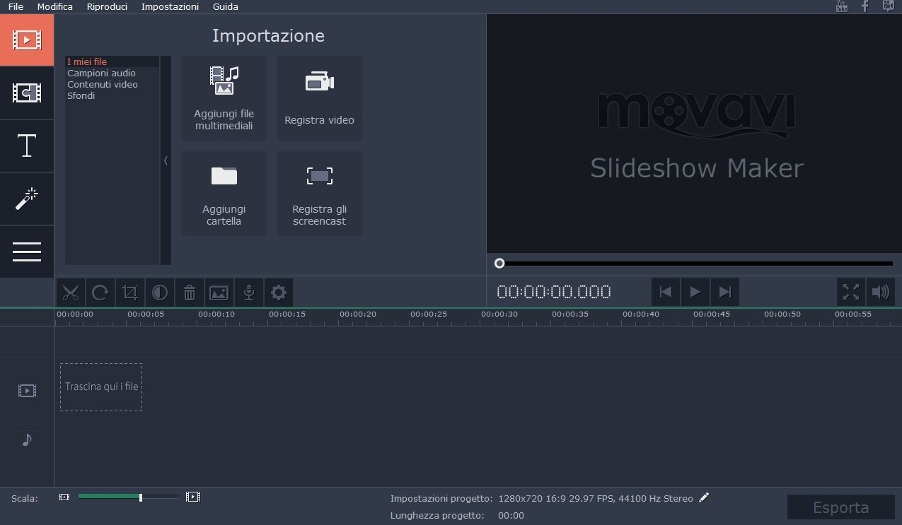 Crea video con musica e foto con Movavi Slideshow Creator
