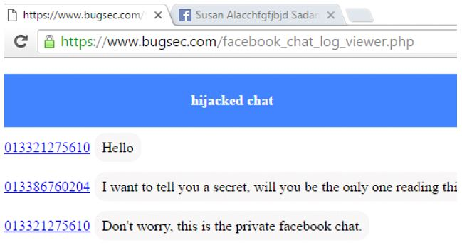 Bug Chat privata Facebook