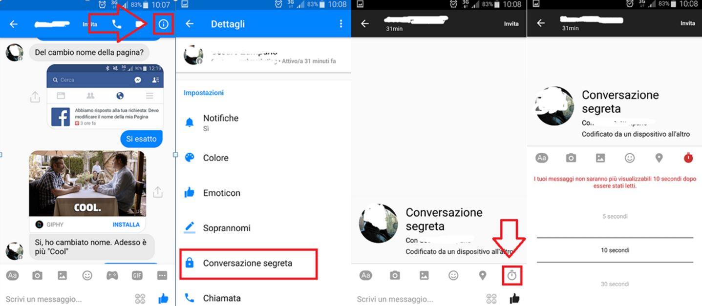 Conversazione privata Facebook