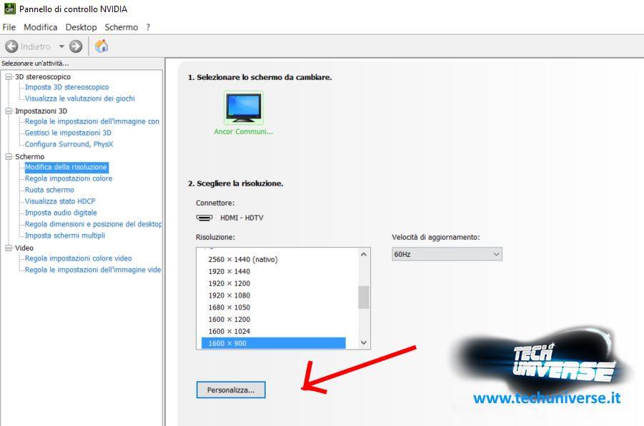 Overclock monitor pannello di controllo NVIDIA