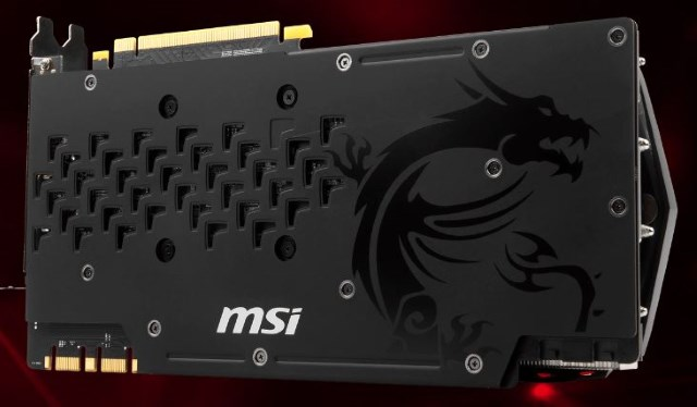 Backplate MSI GTX 1080 Ti