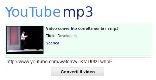 estrarre mp3 da youtube