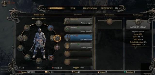 Inventario gioco RPG