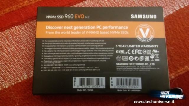 Retro scatola Samsung 960 EVO M.2