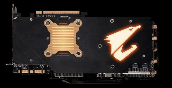 Backplate scheda video Gigabyte
