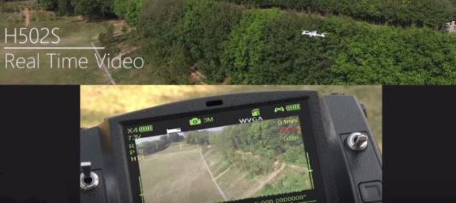 Visuale in tempo reale del drone