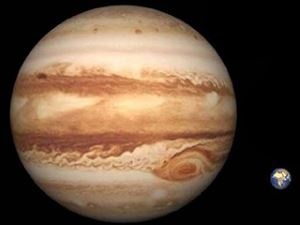 Dimensioni pianeta Giove e la terra