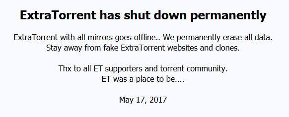 ExtraTorrent sito chiuso