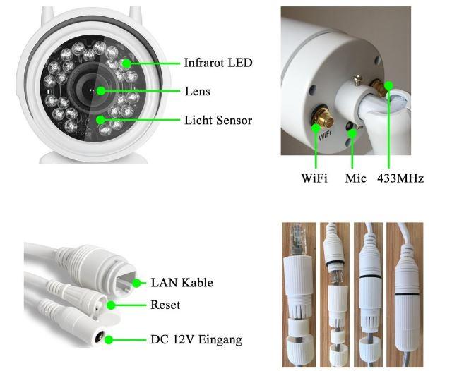 HiKam A7 telecamera videosorveglianza