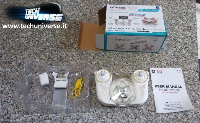 Interno scatola nano drone