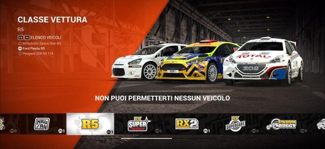 Macchine e autovetture rally