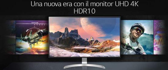 Monitor 32 pollici 4K UHD HDR10