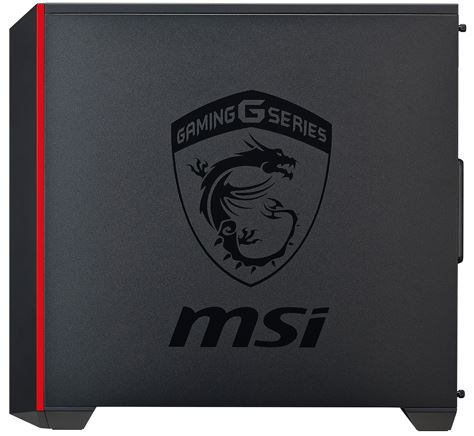 Logo MSI case PC gaming