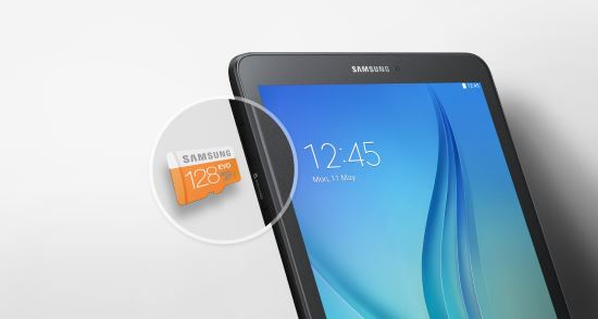 Memoria espandibile con Micro-SD nel Samsung Galaxy Tab E