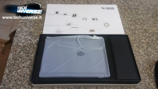 Scatola e unboxing tablet Yuntab K107