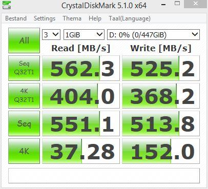 SSD Crucial BX300 480GB CrystalDiskMark test