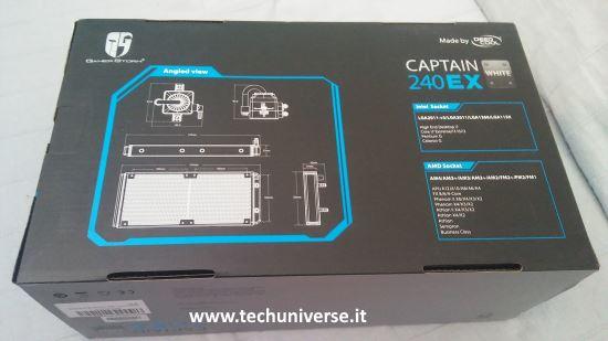 Retro scatola DeepCool Captain 240 EX RGB raffreddamento a liquido