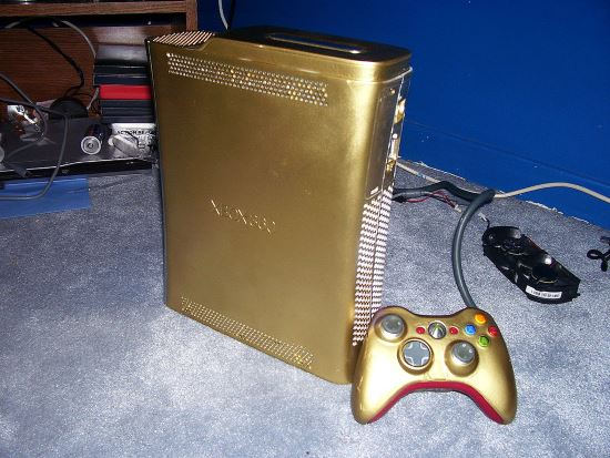 Xbox 360 modding color oro