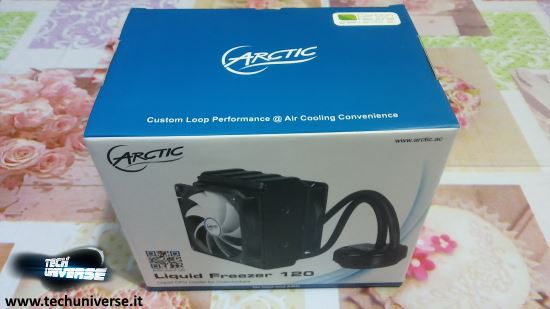 Arctic Liquid Freezer 120 scatola e unboxing
