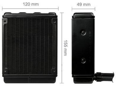 Misure radiatore dissipatore Arctic Freezer 120
