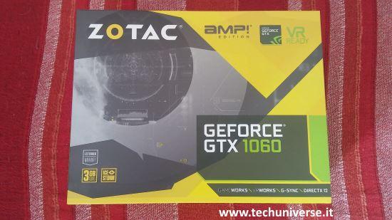 Scatola e unboxing Zotac GTX 1060 AMP