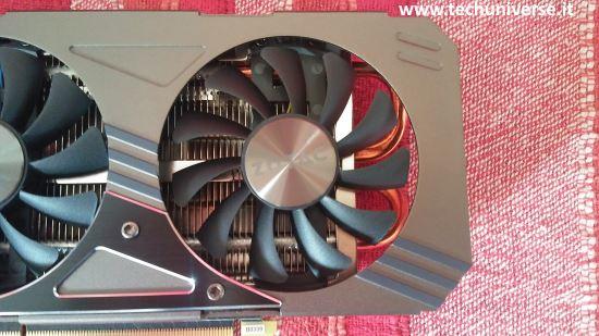 Sistema di raffreddamento Zotac GTX 1060 AMP e ventole
