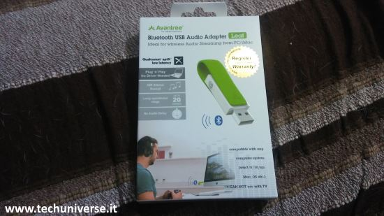 Avantree aptX chiavetta USB Bluetooth scatola