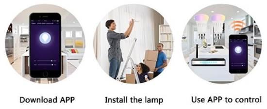 Installazione e connessione WiFi lampade a LED