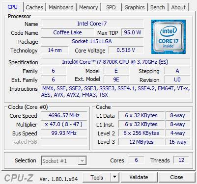 i7-8700K CPU-Z