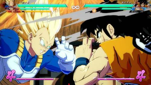 Dragon Ball FighterZ Vegeta contro Yamcha