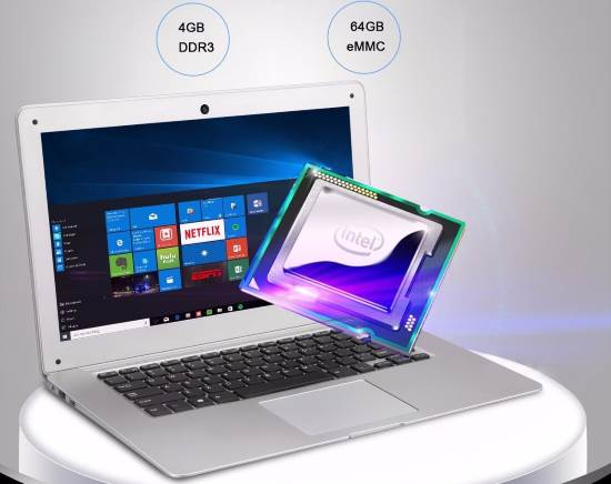 Jumper Ezbook 2 Intel Cherry Trail X5 Z8350 notebook