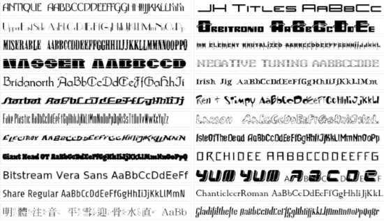 Fonts per logo