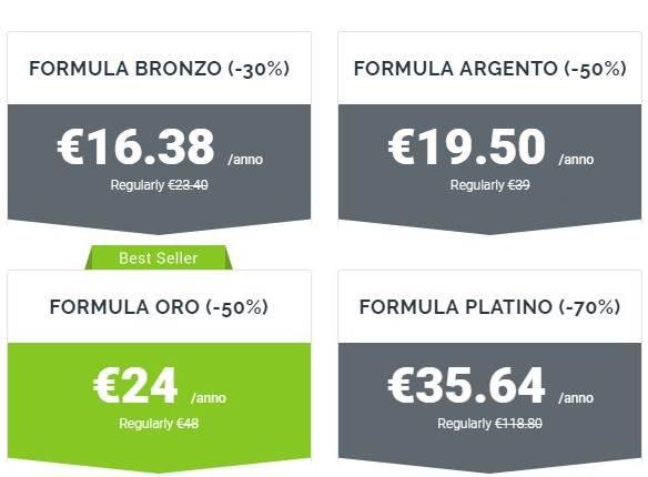 Piani hosting WebHosting
