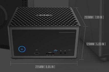 ZOTAC ZBOX MAGNUS EN1080K dimensioni