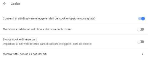 Blocca i cookie su Google Chrome