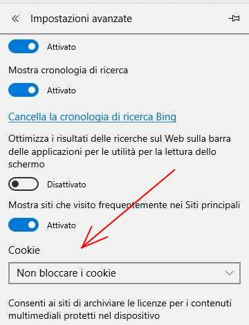 Come bloccare i cookie su Microsoft Edge