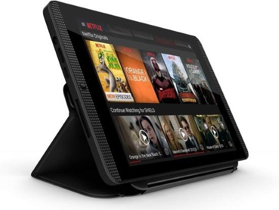 Nvidia Shield Tablet K1 con applicazione Netflix